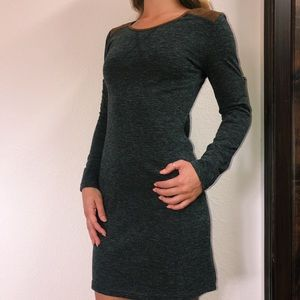 Long sleeve gray dress
